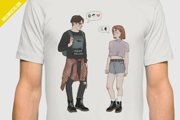 Camisetas mulder scully