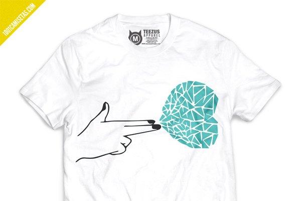 Camiseta rompecorazones san valentin
