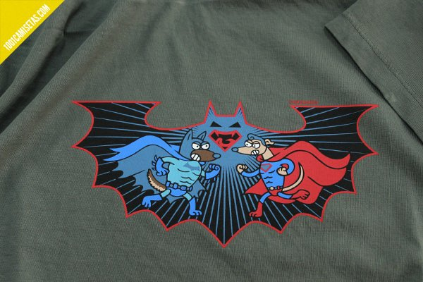 Camiseta batman vs superman kukuxumusu