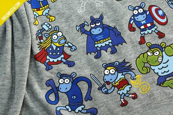 Camiseta kukuxumusu superheroes