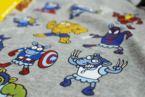 Camiseta superheroes