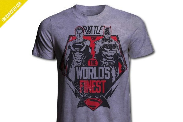 Camiseta superman batman