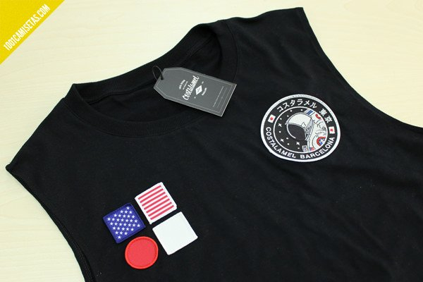 Camiseta astronaut patch