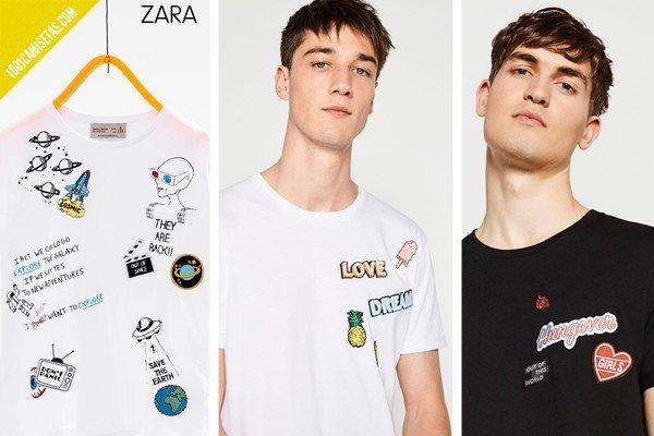 Camisetas de parches zara