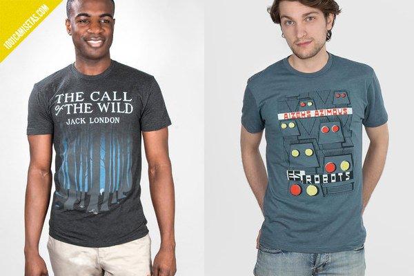 Camisetas libros la llamada de lo salvaje