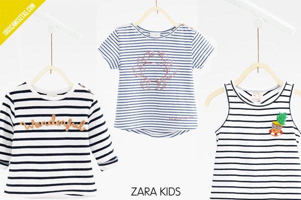 Camisetas rayas zara kids