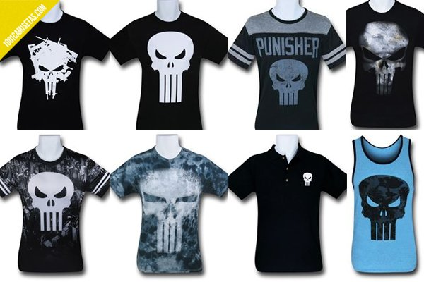 Camisetas the punisher superhero stuff