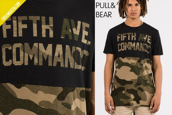 Camisetas camuflaje pull bear