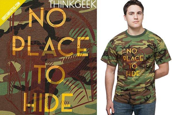 Camisetas camuflaje thinkgeek