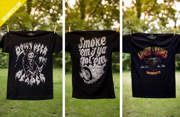 Camisetas loner rebel biker