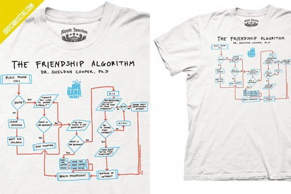 Camiseta friendship algorithm