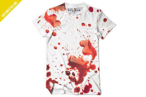 Camiseta full print sangre