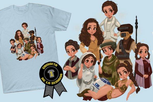 Camiseta semana princess leia