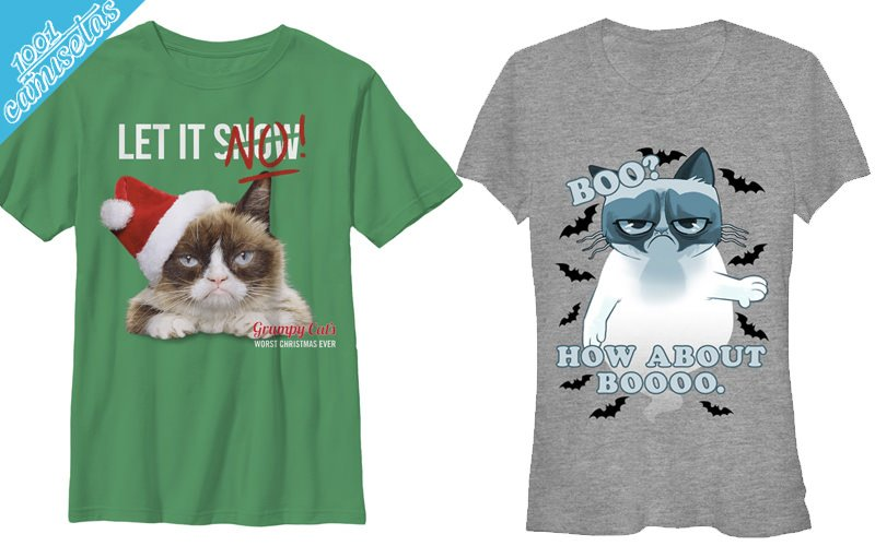 Camisetas grumpy cat