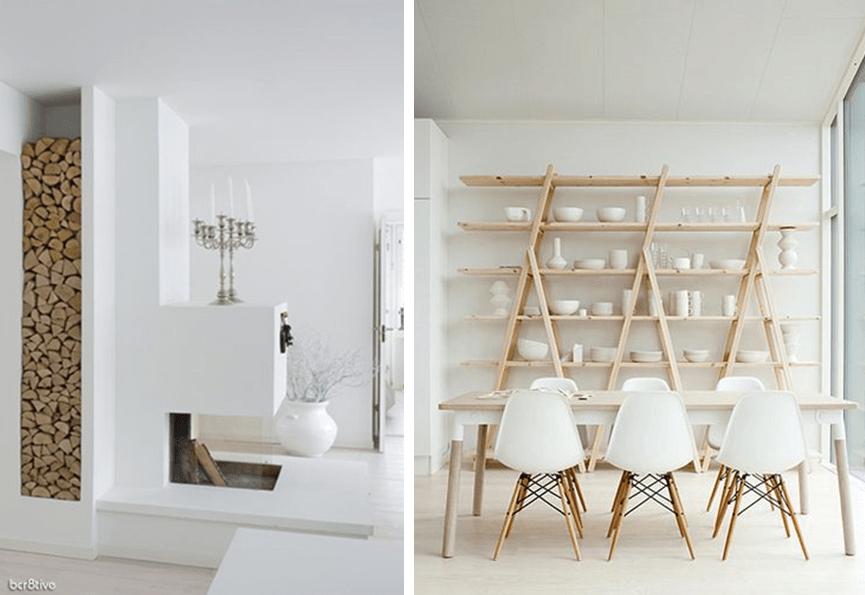4 interieur blanc et bois brut idee