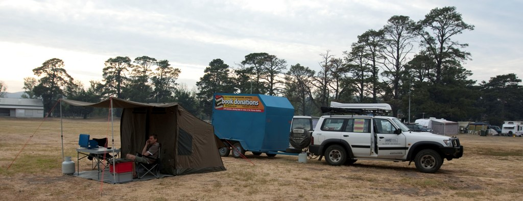 camping in Whittlesea showground
