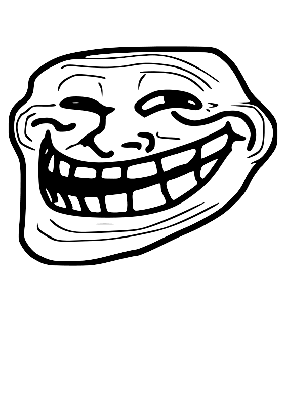 Free Clipart Troll Face Problem Master Sayien
