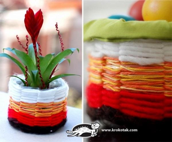 vasos feitos a partir de embalagem plástica1