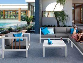 LUNA AppleBee nowoczesne, aluminiowe meble ogrodowe NR 0502