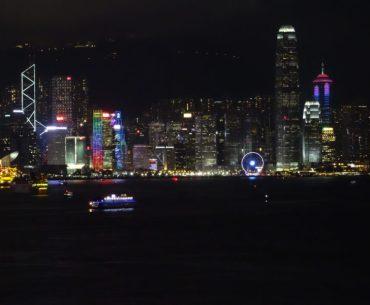 Hong Kong Island nachts