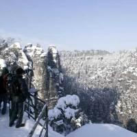 Winterwandern im Elbsandsteingebirge