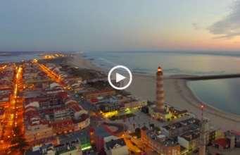 Praia da Barra, voo noturno (Ultra Alta Definição)
