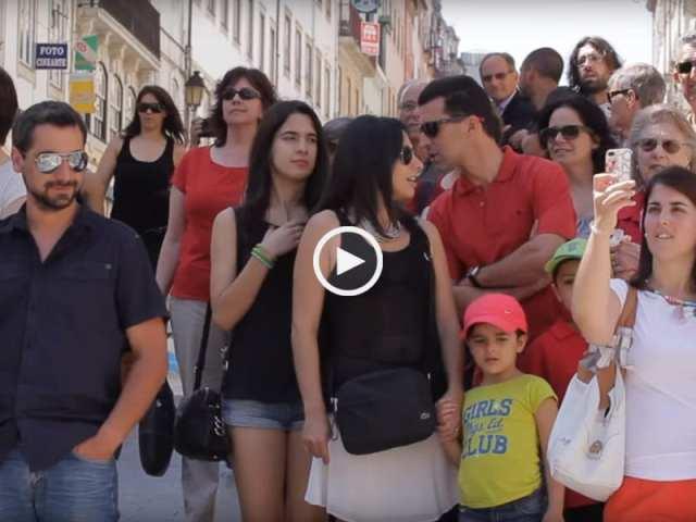 Espetacular surpresa em Coimbra