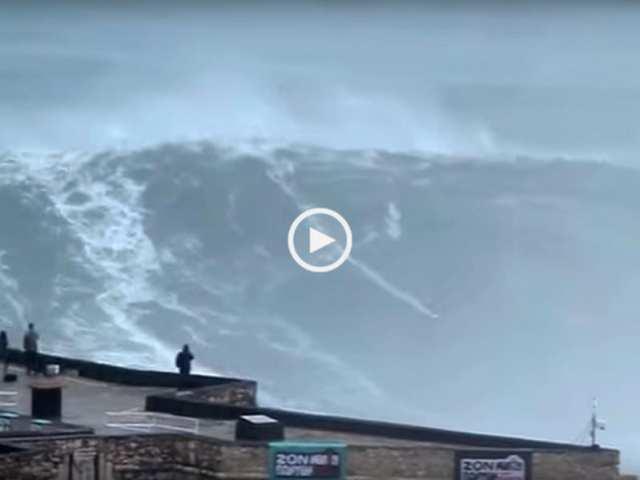 Novo record da maior onda surfada na Nazaré