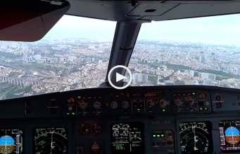 Fantástica aterragem em Lisboa vista do cockpit!