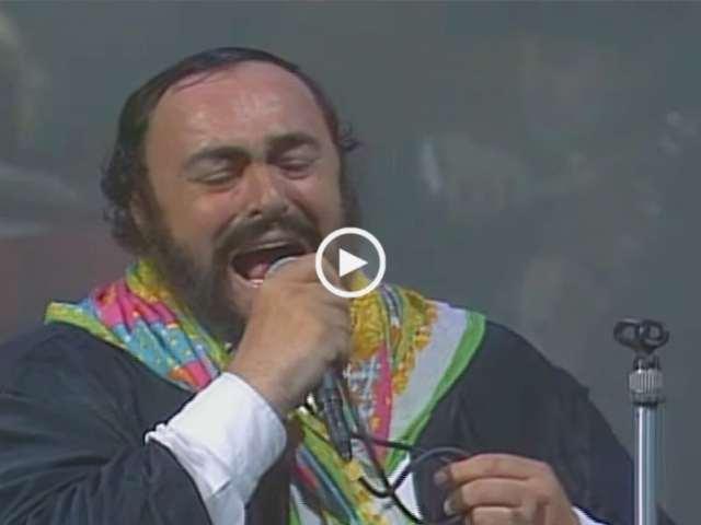 Pavarotti e Lucio Dalla
