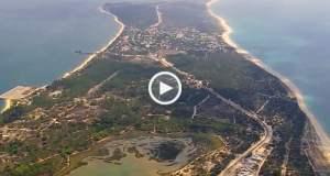 Fenomenal Portugal visto do céu - Península de Tróia até Mértola!