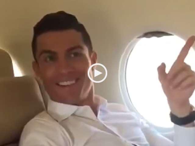 Reação de Ronaldo ao ouvir o nome do aeroporto no seu avião particular