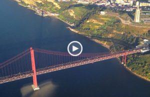 Aterragem em Lisboa com vistas soberbas