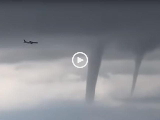 Avião passa por 3 tornados antes de aterrar