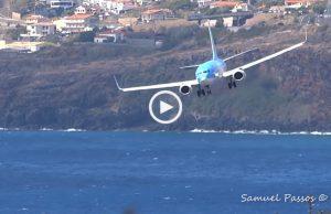 Mais uma aterragem assustadora na Madeira