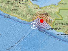 O momento em que o sismo atingiu o México