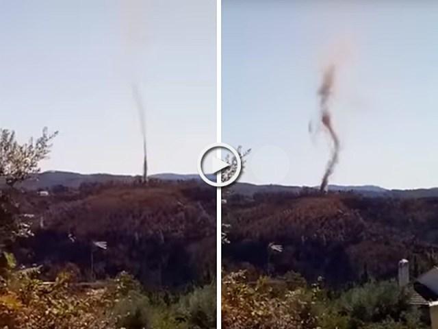 Tornado na Sertã forças da natureza