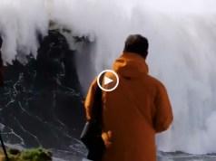 Inacreditáveis ondas monstruosas da Nazaré