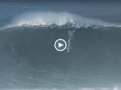 Ondas gigantes e surfistas temerários na Nazaré