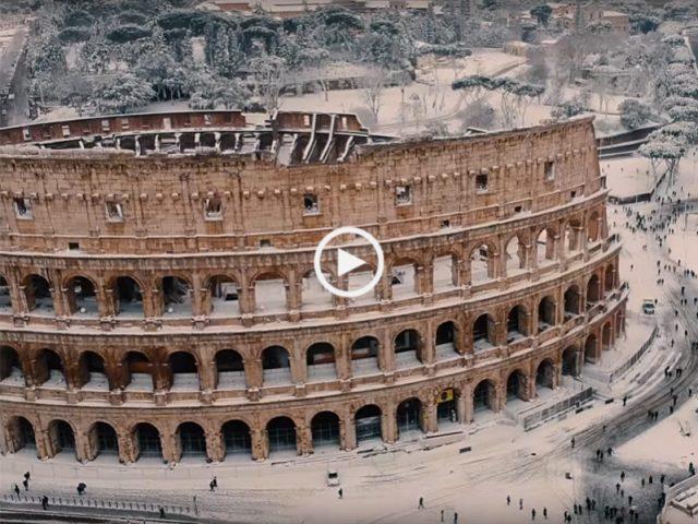 Quando a neve cai em Roma