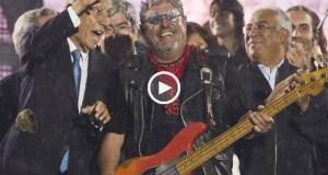 Marcelo a cantar com os Xutos & Pontapés