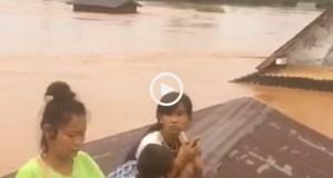 Barragem colapsa em Laos