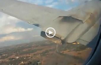 Vídeo gravado por sobrevivente mostra queda de avião