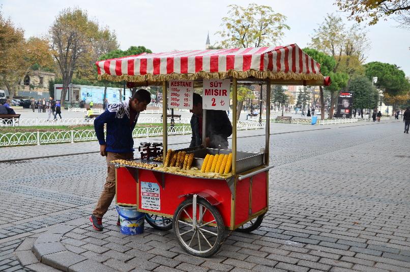 street seller of corn
