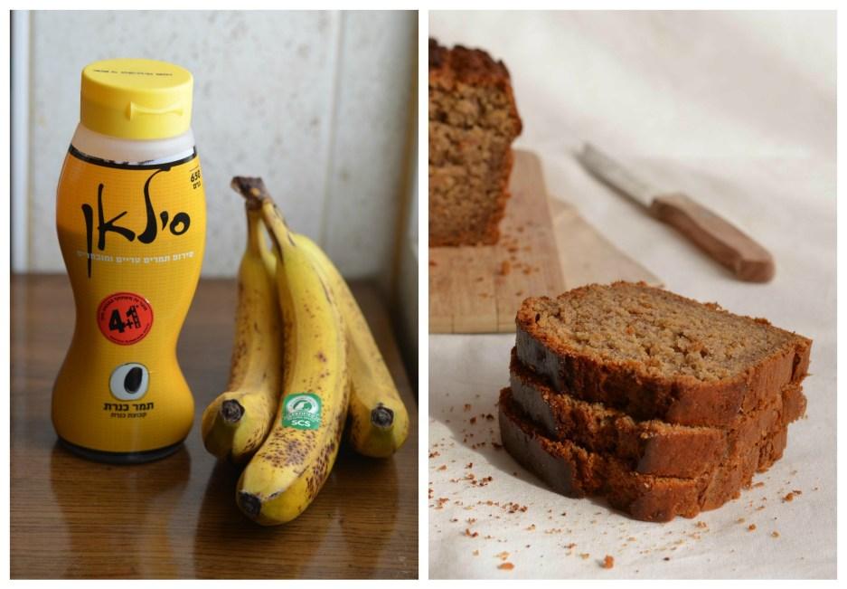 Banánový chléb s datlovým medem