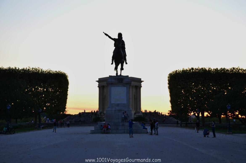 Promenade du Peyrou se sochou Ludvíka XIV.