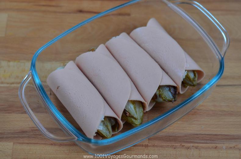 Moc dobrý vegetariánský recept na zapečené čekanky, neboli belgickou klasiku chicon au gratin.