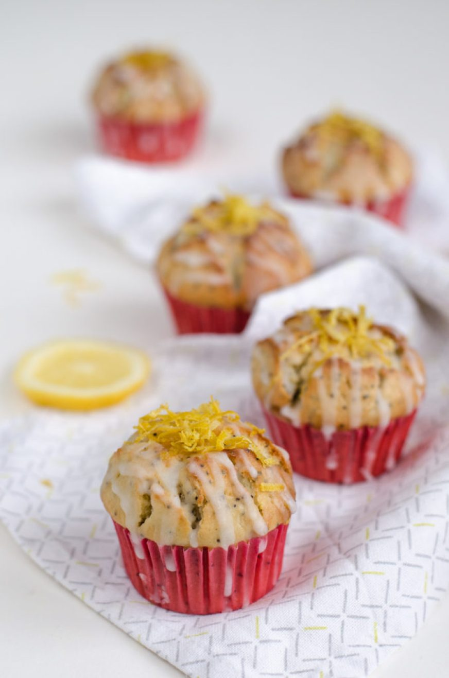 I love this Lemon Poppy Seed Muffins recipe, where a major dose of butter is replaced by greek yogurt thanks to which they are delicious but healthier too.