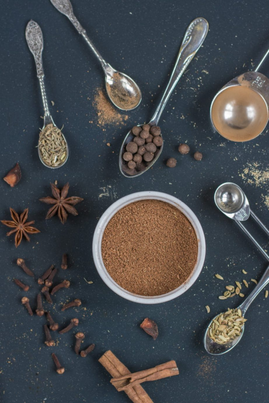Pernik Spice mix recipe. A mix of spices such as cinnamon, allspice, clove, anise, nutmeg and others used in pernik, Czech traditional spice cake.