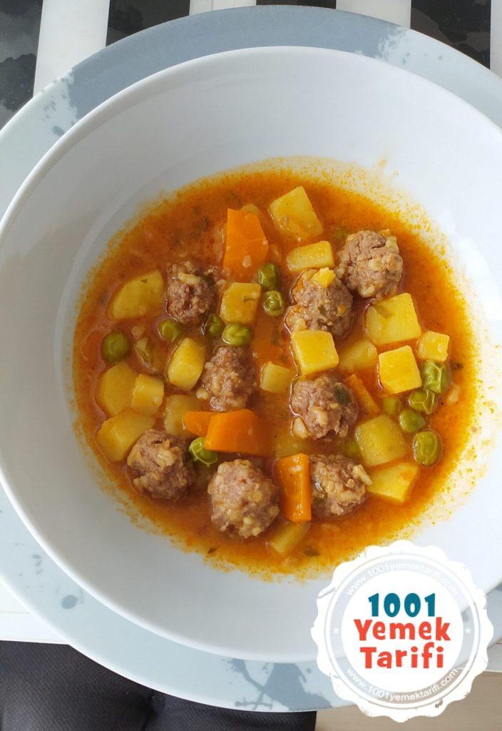 Patatesli Sulu Köfte Tarifi nasıl yapılır kac kalori puf noktası 1001yemektarifi